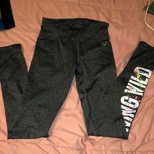 Heather Gray workout leggings from Aeropostale